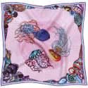 Dancing Jellyfish Pink Pocket Square image