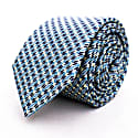 Tire Tracks - Blue - Hand Finished Silk Tie image