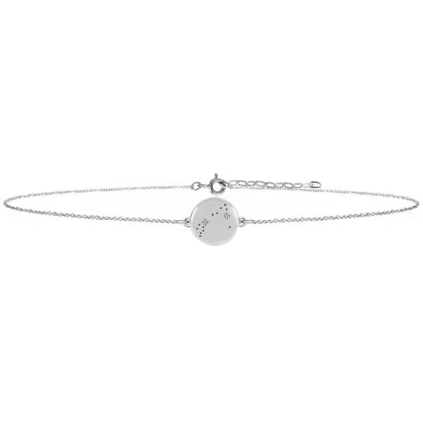 NO 13 Pisces Zodiac Constellation Choker Diamonds & Silver