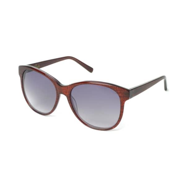HEIDI LONDON Round Cateye Frame Sunglasses Bordeaux