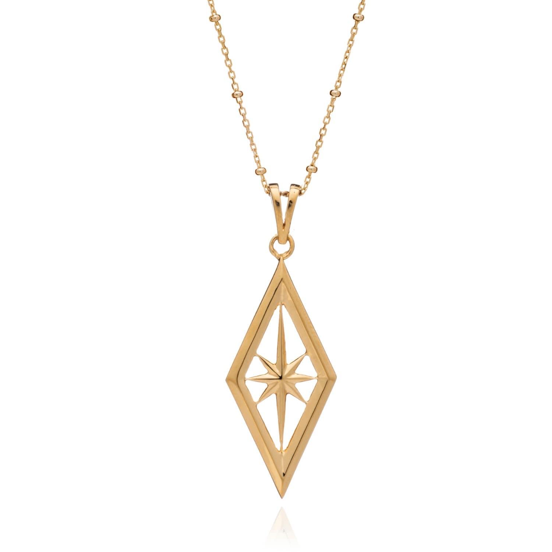 nova star necklace in gold rachel jackson london wolf badger