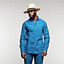 Asante Long Sleeve African Print Shirt - Flintstone image