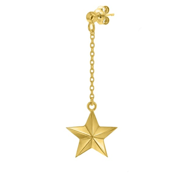 True Rocks 18 Carat Gold Plated Star Drop Earring