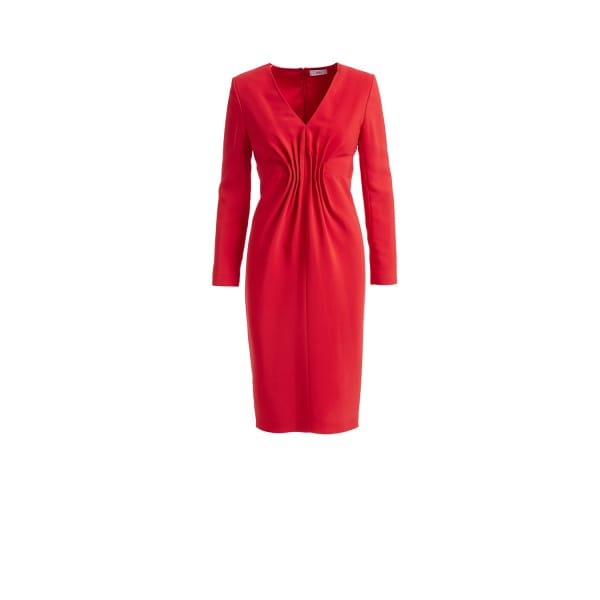 Felia Red Cady Bodycon Midi Dress