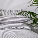 Organic Ticking Stripe Duvet Cover Set Single image