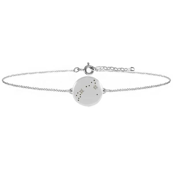 NO 13 Pisces Zodiac Constellation Bracelet Diamonds & Silver