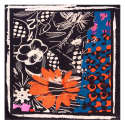 Orange Flowers Large Square Scarf image