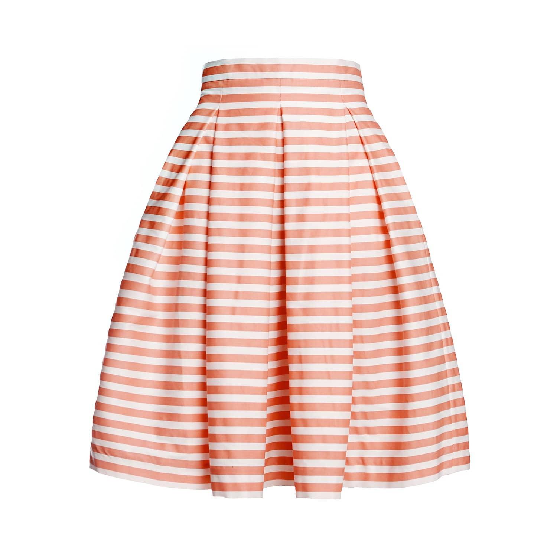 7cb9723b30 Amalfi Coral Striped Midi Skirt image
