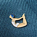 Enamel Pin Bow Pose image
