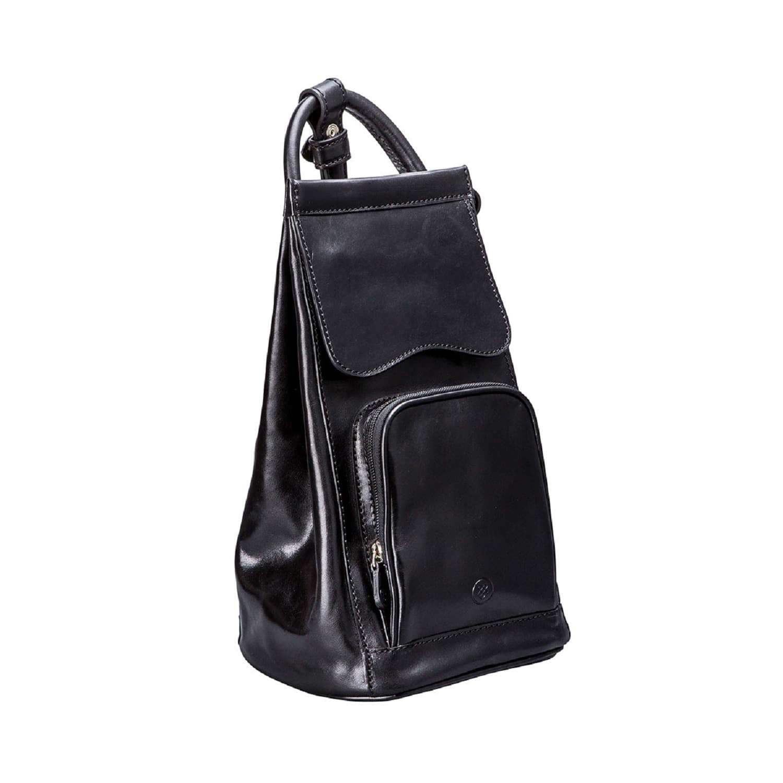 a66cc5c6d6ff Luxury Italian Leather Women s Backpack Handbag Carli Black image