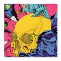 Matching Cropped Eden Garden Pocket Square No.1 Big Skull image