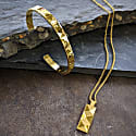 In 'N' Out Cuff In Gold image