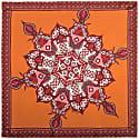 Fire Mandala Neckerchief Silk Twill Scarf image