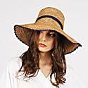 Madisun Raffia Sun Hat Brown image