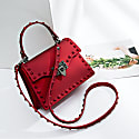 Rebel Rich Bag Studded Vegan Leather In Red image