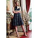 Nina Sweetheart Neckline Jacquard Midi Dress image