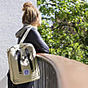 Poly Bag Vegan Backpack Desert Waxed Canvas image