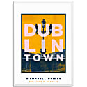 O'Connell Bridge Dublin Town Series A3 Print image