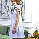 Angela Baby Blue Cotton Dress image