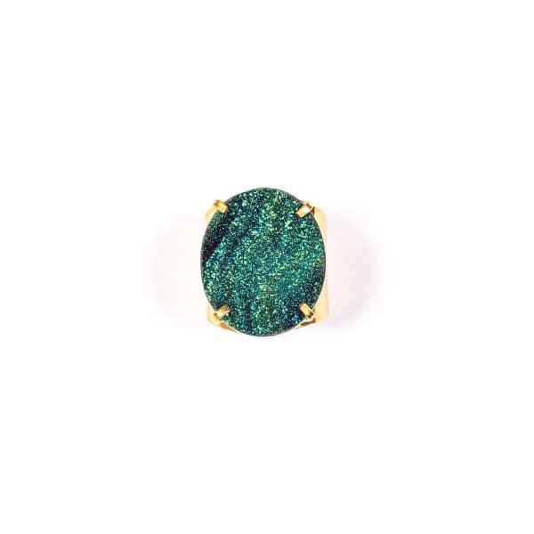 TIANA JEWEL Steffy Blue Metallic Druzy Ring