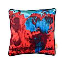 Red Blue Geode Velvet Cushion image