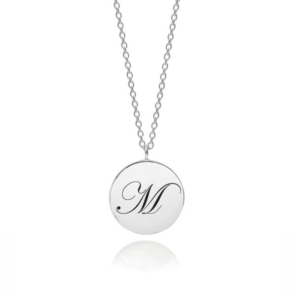 MYIA BONNER Sterling Silver Initial M Edwardian Pendant