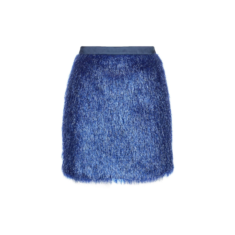 Blue Crystal Miniskirt