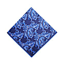 The Floral Paisley Pocket Square - Navy image