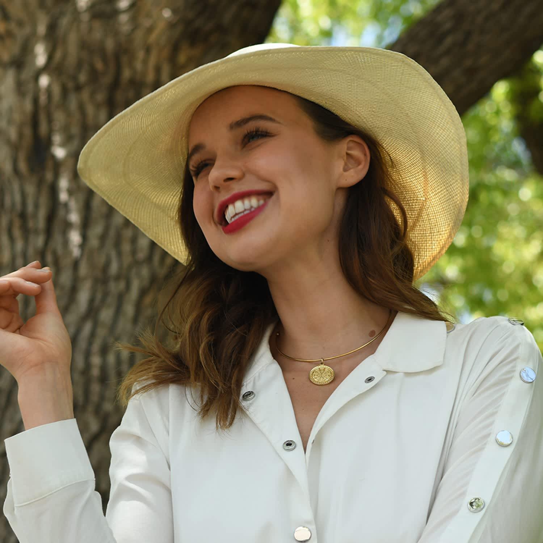0daa03185 Ladies Genuine Panama Sun Hat Natural Wide Brim by La Marqueza Hats