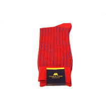 TYLER & TYLER Pinstripe Blue & Red Socks