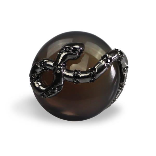 Gucci Agate Umbra Serpentine Cocktail Ring