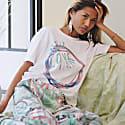 Love Print Silk Pyjama Pants image