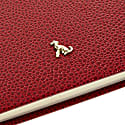 A6 Hard Cover Hardy Notebook The Rollo Collection Burgundy - Gold Page Edges image