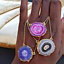 Purple 'Solar Power' Gold Vermeil Gemstone Necklace image