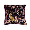 Monkey Leopard Velvet Cushion Cover image