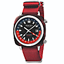Briston Clubmaster Gmt Traveller Acetate, Swiss Movement - Special Edition with Red Nato Strap image