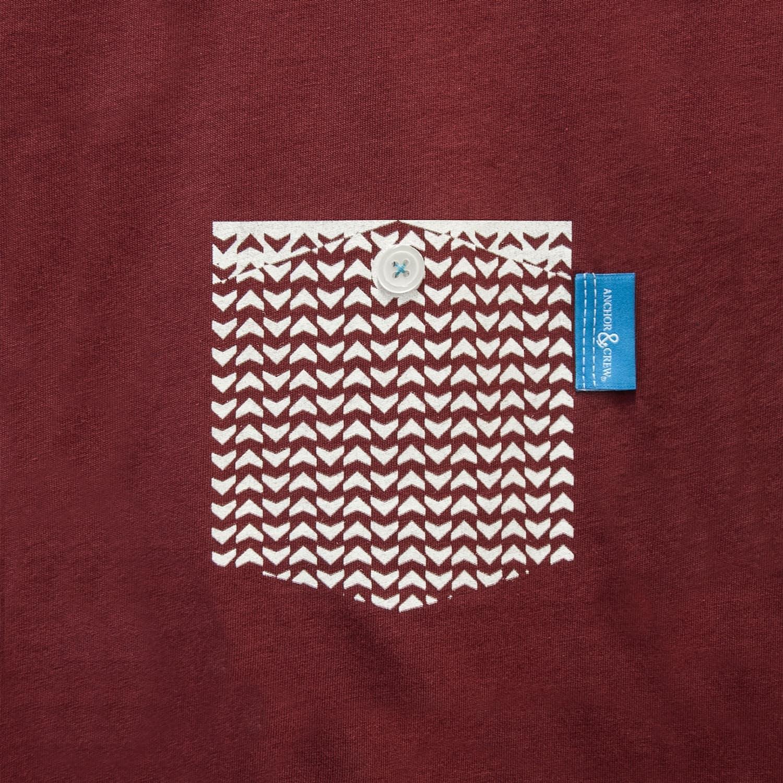 Fire Brick Red Marker Print Organic Cotton T-Shirt (Womens