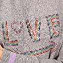 Love Cashmere Knitted Sweatshirt Grey Melange image