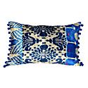 Stunning Blue Velvet Patchwork Cushion image
