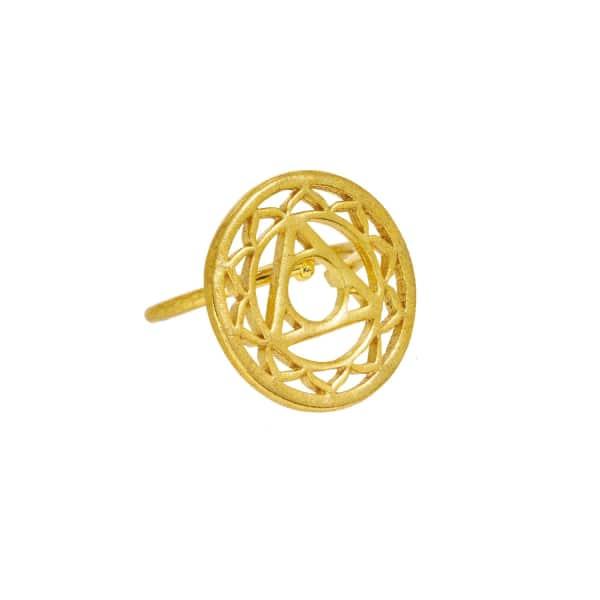 OTTOMAN HANDS Gold Solar Plexus Chakra Ring