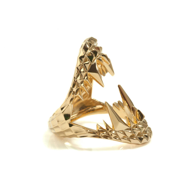 Vampire Bite Ring Gold   Kasun   Wolf & Badger