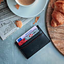 Slim Card Holder In Black image