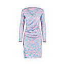 Printed Lycra Dress Pink image
