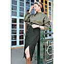 Dark Forest Wrap Midi Pencil Skirt image