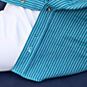 Blue Striped African Cloth Shirt image
