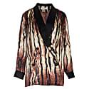 Silk Blazer In Animal Print image