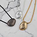 Flooid Pebble Necklace Silver image