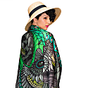 Eagles Green Silk Scarf image