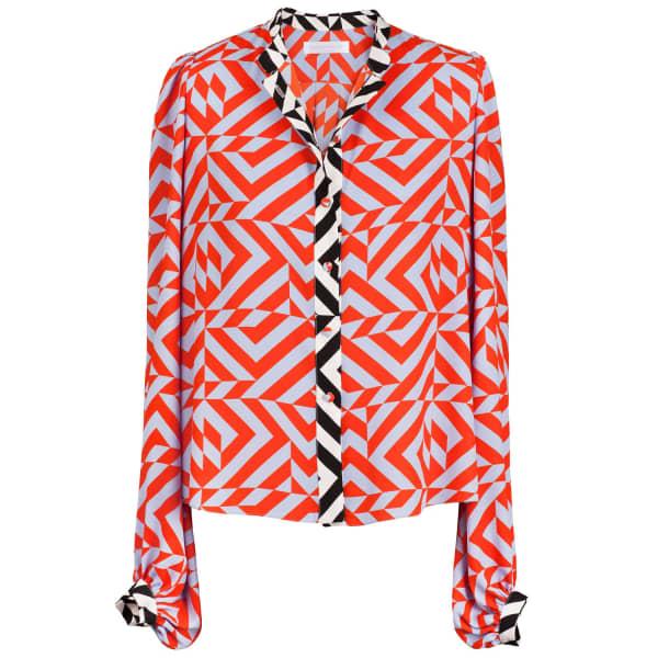 SIOBHAN MOLLOY Annie Geometric Print Shirt