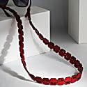 Faya Sunglasses Strap- Red Vegan Leather image
